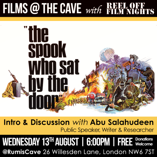 FILM AT THE CAVE 2014 08 - the spook who sat by the door