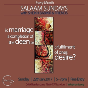 Salaam Sundays this month onMarriage
