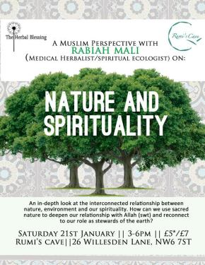 NATURE AND SPIRITUALITY – TALK BY RABIAH MALI