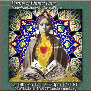 Poems of Divine Love – Poetry Workshop with Sukina Pilgrim