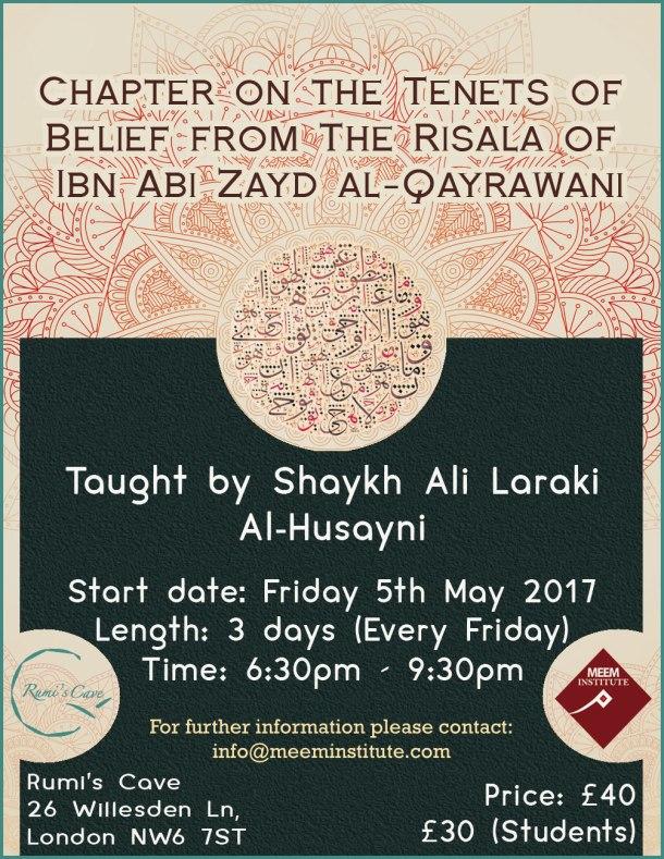 Shaykh Ali Laraki Event poster